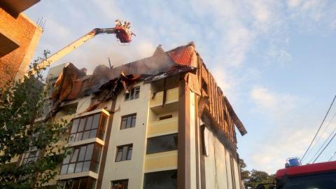 В Киеве горела недостроенная многоэтажка